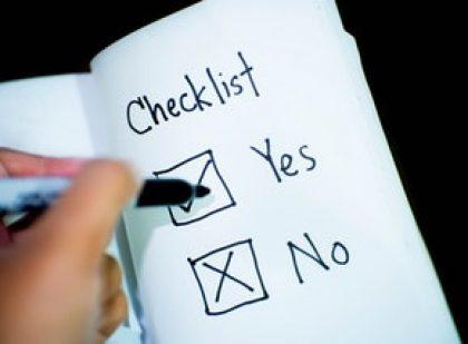 Deductions Checklist 2020
